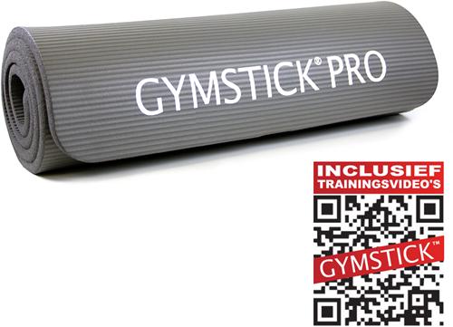 Gymstick fitnessmat NBR Grijs - Met Online Trainingsvideo
