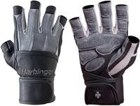 Harbinger Bioform WristWrap Fitness Handschoenen - Grey/Black Maat XXL