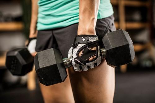 Harbinger Womens Flexfit Gloves White Lifestyle 5