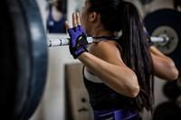 Harbinger Womens Flexfit Gloves Purple Lifestyle.jpg