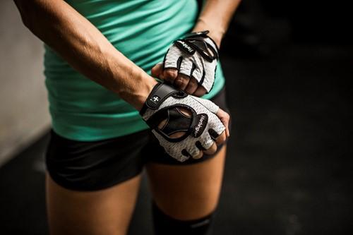 Harbinger Women's Flexfit Open Finger Fitness handschoenen - White-2