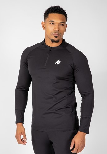 Gorilla Wear Hamilton Hybrid Long Sleeve - Zwart