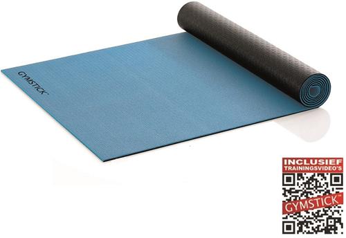 Gymstick Active 2-Tone Fitnessmat - Yogamat - met trainingsvideo's