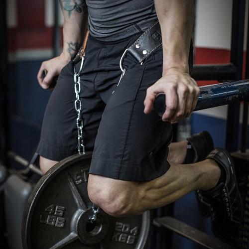 Harbinger Leather Dip Belt lifestyle