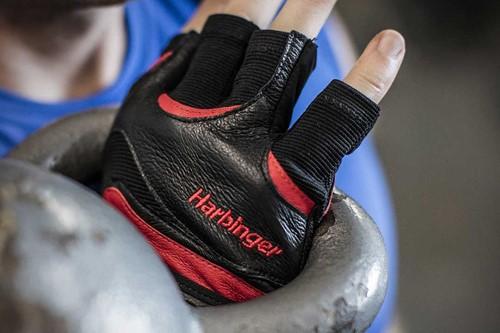 Harbinger FlexFit Wash & Dry Fitness Handschoenen Black/Red kettlebell 2