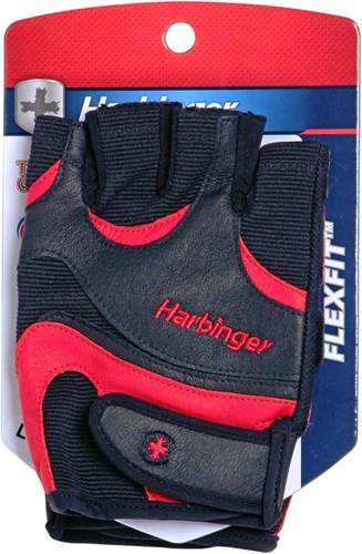 Harbinger FlexFit Wash & Dry Fitness Handschoenen Black/Red verpakking