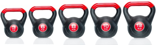 Gymstick Vinyl Kettlebell 12 kg met trainingsvideo's-2