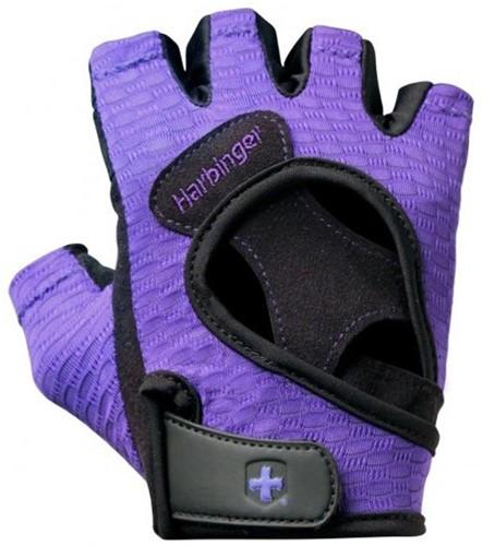 Harbinger Womens FlexFit fitness handschoenen Paars - M