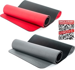 Gymstick Pro Yoga Mat - Met Online Trainingsvideos - Red/Black