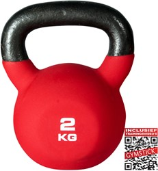 Kettlebell Pro 2 Kg Neopreen Met Trainingsvideo's