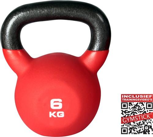 Gymstick Kettlebell Pro 6 Kg Neopreen Met Trainingsvideo's