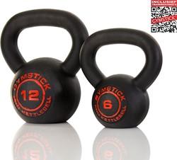 Gymstick Pro Neopreen Kettlebell - Zwart - Met Online Trainingsvideo's - 6kg