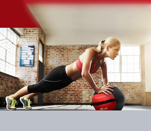 Gymstick Wallball Met Trainingsvideos - 4 kg