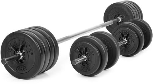 Gymstick Vinyl Barbell en Dumbbell Set - 60 kg