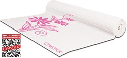 Gymstick emotion exercise mat pink/white - Met Draagband En Trainingsvideo's