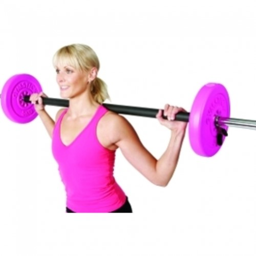 Gymstick 20 kg pump set met trainingsvideo's - roze-3