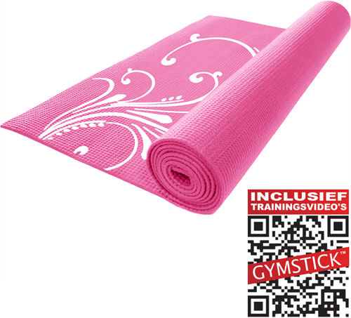 Gymstick Fitness Mat Roze  - Met trainingsvideo