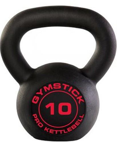 Gymstick Pro Kettlebell - Zwart - Met Online Trainingsvideo's - 10kg