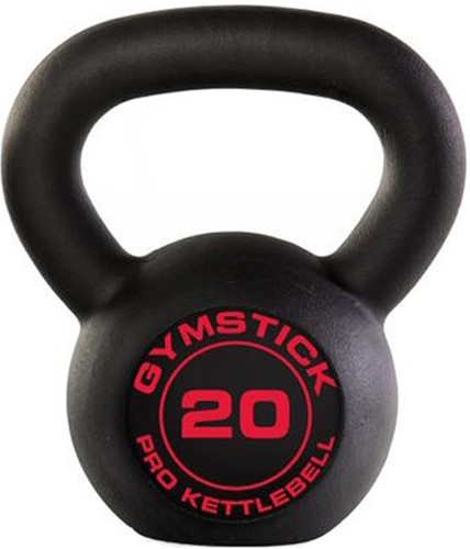 Gymstick Pro Kettlebell - Zwart - Met Online Trainingsvideo's - 20 kg