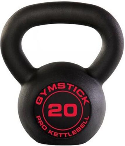Gymstick Pro Neopreen Kettlebell - Zwart - Met Online Trainingsvideo's - 20kg