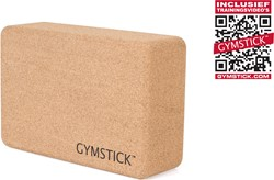 Gymstick Active Yoga Block Cork - Met Online Trainingsvideo's
