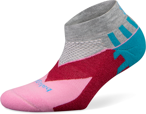 Balega Women Enduro Low Cut Sportsok Grijs/Roze