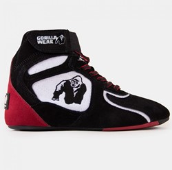 "Gorilla Wear Chicago High Tops - Black/White/Red ""Limited"" - Maat 38"