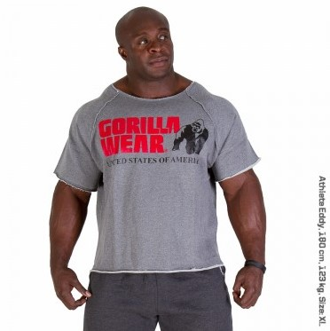 Gorilla Wear Classic Work Out Top Grey-3