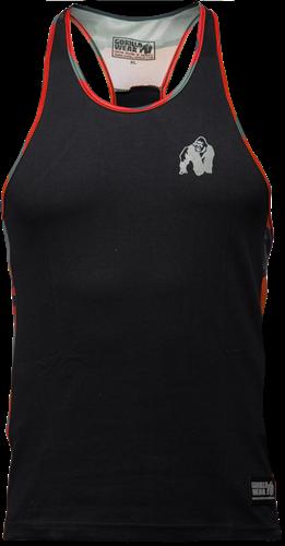 Gorilla Wear Sacramento Camo Mesh Tank Top - Zwart/Rood
