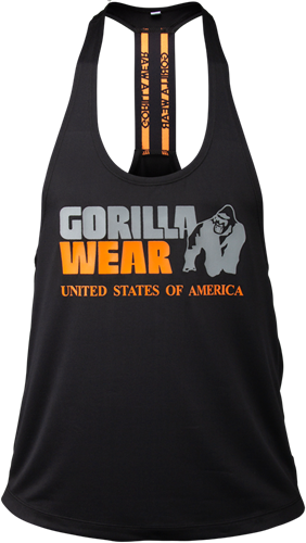 Gorilla Wear Nashville Tank Top - Zwart/Neon Oranje
