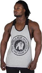 Gorilla Wear Roswell Tank Top - Gray/Black - 4XL