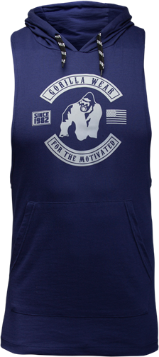 Gorilla Wear Lawrence Hooded Tank Top - Marineblauw