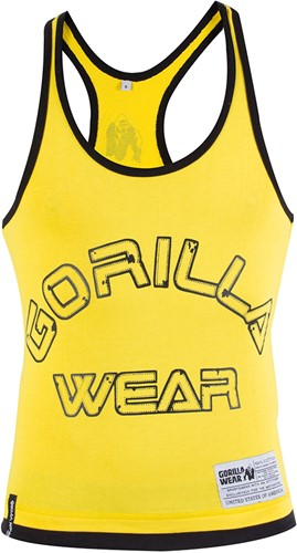 Gorilla Wear Stringer Tank Top - Geel-3