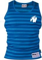 Gorilla Wear Stripe Stretch Tank Top - Blauw