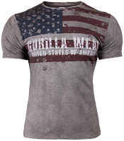 Gorilla Wear USA Flag Tee