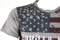 Gorilla Wear USA Flag T-Shirt - Grijs-3