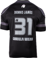 Gorilla Wear GW Athlete T-Shirt Dennis James Black/Grey-2