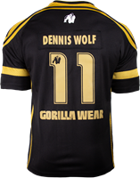 Gorilla Wear GW Athlete T-Shirt Dennis Wolf Black/Gold-2