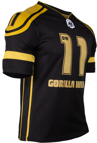 Gorilla Wear GW Athlete T-Shirt Dennis Wolf Black/Gold-3