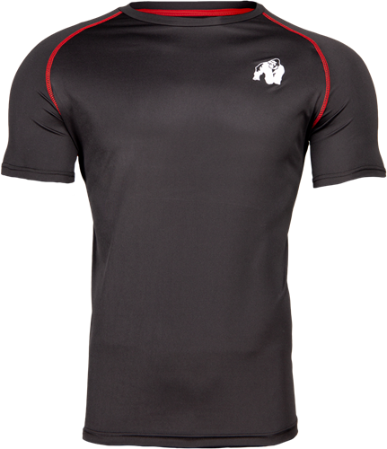 Gorilla Wear Performance T-Shirt - Zwart/Rood