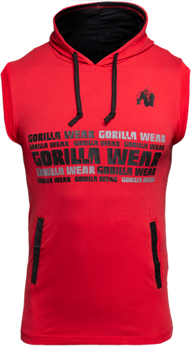 Gorilla Wear Melbourne Sleeveless Hooded T-shirt - Rood