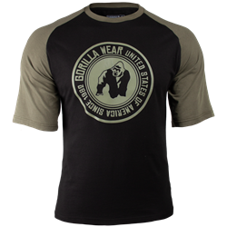 Gorilla Wear Texas T-shirt - Black/Army Green - L