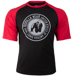 Gorilla Wear Texas T-shirt - Black/Red - 3XL