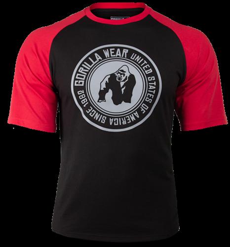 Gorilla Wear Texas T-shirt - Zwart/Rood