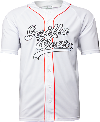Gorilla Wear 82 Jersey T-Shirt- Wit