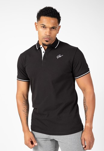 Gorilla Wear Delano Polo - Zwart/Wit