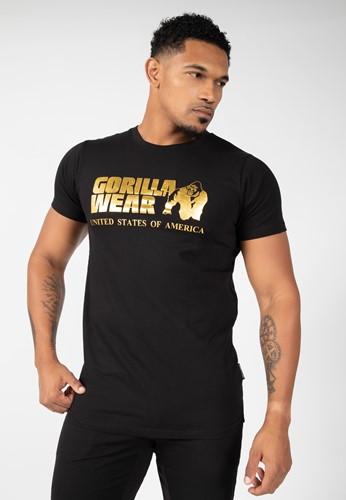 Gorilla Wear Classic T-shirt - Zwart/Goud