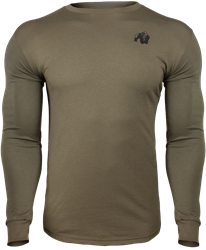 Gorilla Wear Williams Longsleeve - Army Green - 4XL