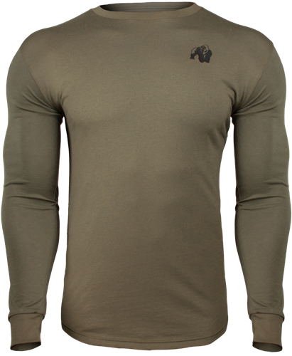 Gorilla Wear Williams Longsleeve - Legergroen - 2XL
