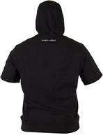 Gorilla Wear Boston Short Sleeve Hoodie - Black-3